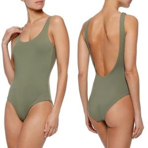 NWT Anthropologie Onia Kelly Swimsuit Forest Green